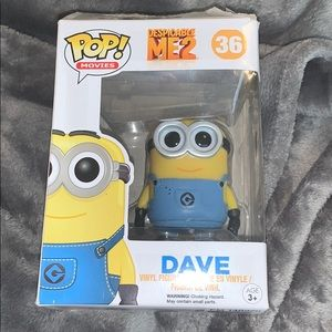 Dave From Despicable Me 2 Funko Pop Vinyl Figurine